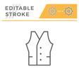vest editable stroke line icon vector image vector image