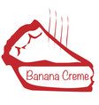 warm banana creme pie vector image vector image