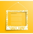white frames on the yellow wall vector image vector image