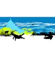 Wild crocodiles vector image vector image