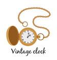 vintage gold watch icon vector image