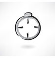 stopwatch grunge icon vector image