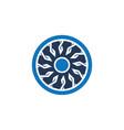 abstract circle ornament logo vector image vector image
