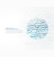 abstract technology network lines background vector image vector image