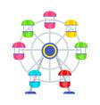 amusement park ferris wheel vector image