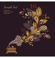 background autumn waltz vector image