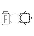 battery solar charging vector image vector image
