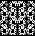 black and white vintage embroidery style vector image vector image