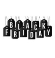black friday on price tag set realistic vector image