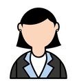 businesswoman elegant isolated icon vector image vector image