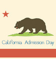 california state flag 1953 vector image vector image