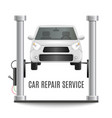 car lifting platform composition vector image