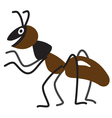 Cartoon ant vector image vector image