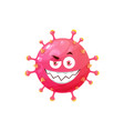 cartoon virus coronavirus funny cell icon vector image