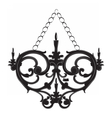 Classic Baroque style wall lamp vector image vector image