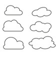 clouds collection thin vector image vector image