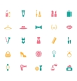 Collection of Fashion and Shopping Icons vector image vector image