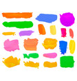 color set paint draw brush on white background vector image