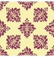 Crimson floral seamless pattern vector image vector image