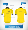 Cycling Jersey Template vector image vector image