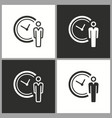 deadline time icon pictograph for graphic vector image