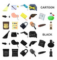 detective agency cartoon icons in set collection vector image