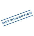 Eco Collection Watermark Stamp vector image