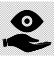Eye sign Flat style icon vector image vector image