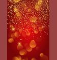 festive gold confetti background vector image vector image