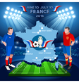 France 2016 Euro Championship vector image