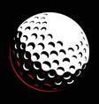 galf ball on dark background vector image vector image