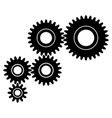 gear transmission to transmit power and motion vector image vector image