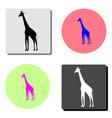 giraffe flat icon vector image vector image