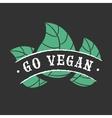 Go vegan icon vector image vector image