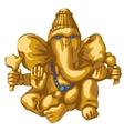 golden statue ganesha religious symbol vector image