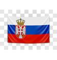 hanging flag serbia republic serbia vector image