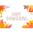 happy thanksgiving greeting card with handdrawn vector image