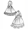 historical clothes vector image vector image
