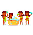 indian girl kid poses set hindu child vector image vector image