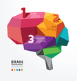 infographic Brain Design Conceptual vector image vector image