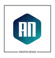 initial letter an logo template design vector image