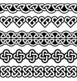 irish celtic seamless patterns vector image