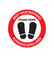 Keep your distance sign sticker for reopening