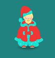 Little Santa Claus Isolated vector image vector image