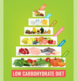 low carbohydrate diet poster vector image