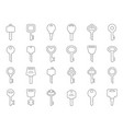 mono line of keys for doors vector image