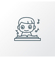 music icon line symbol premium quality isolated vector image vector image