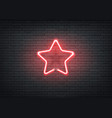 neon star red signage bar night club vector image vector image