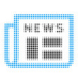 newspaper halftone icon vector image