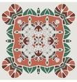 Oriental four-corner mandala print Round lase vector image vector image